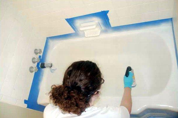 Покраска ванны в домашних условиях