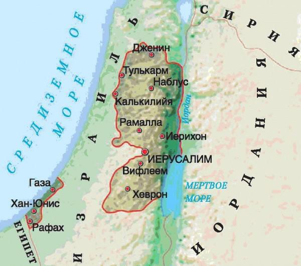 население палестины