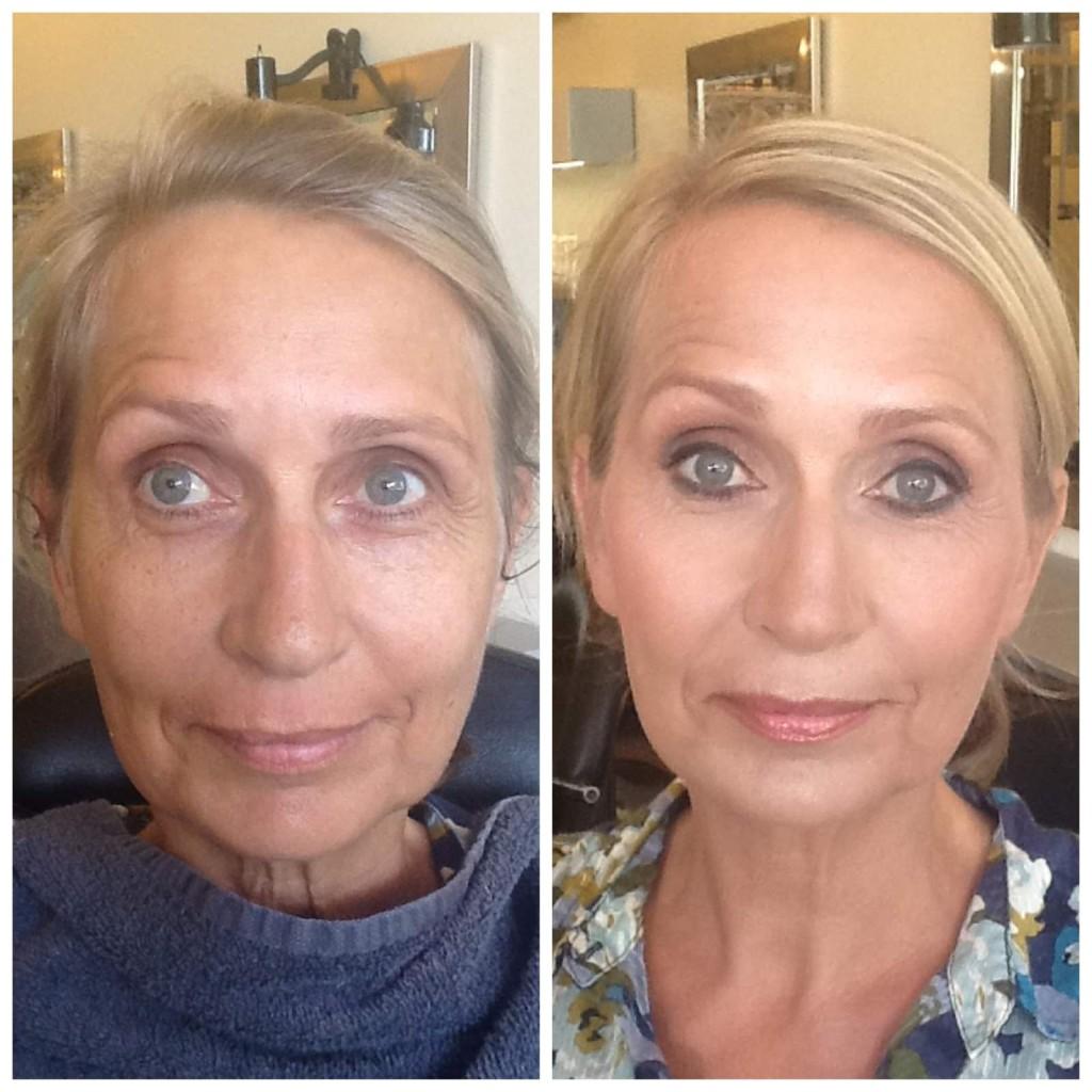 До и после возрастного макияжа