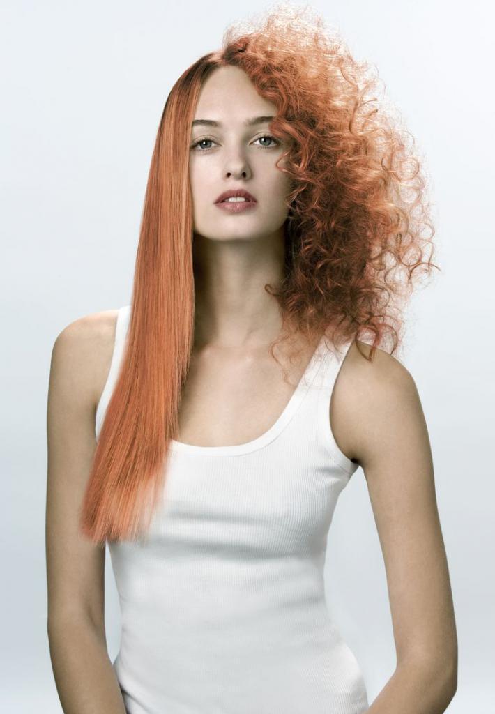 Химия на длинные волосы