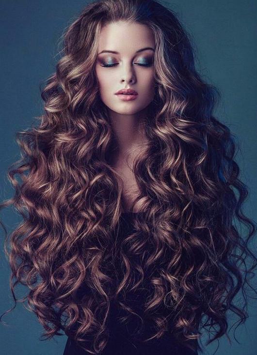 Химия на длинные и густые волосы