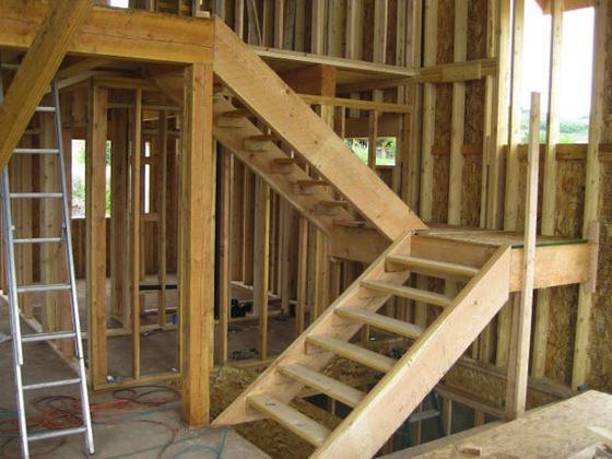 Лестница в частном доме размеры