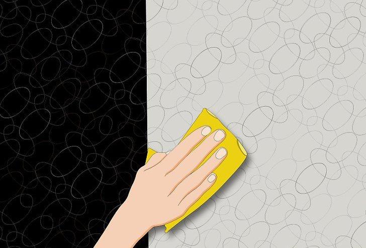 spots on non-woven wallpaper