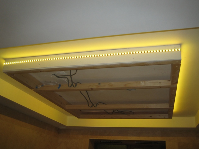 led strip on the ceiling