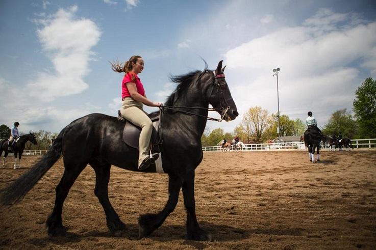 Езда на лошади верхом