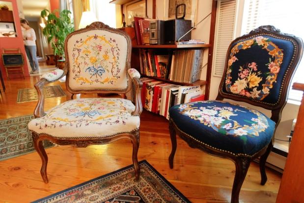 украшение стульев вышивкой