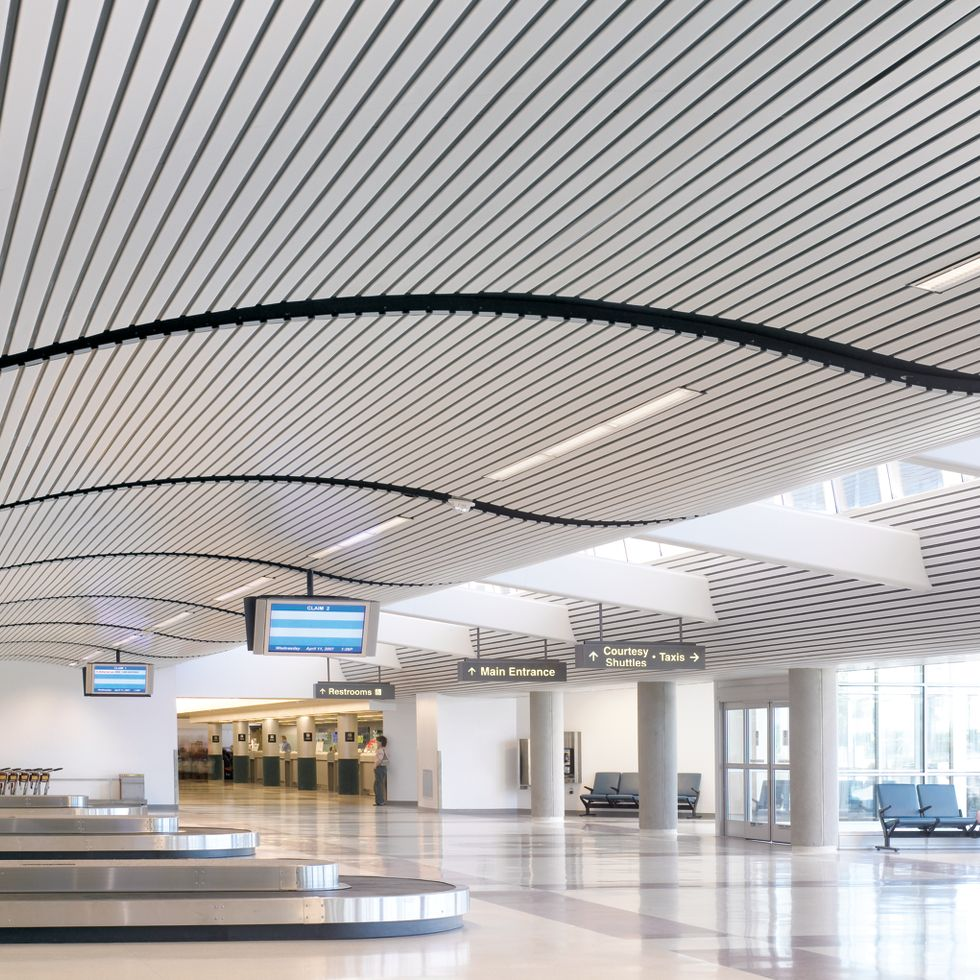 suspended ceilings from aluminum panels