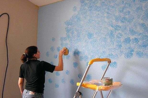 how to paint a concrete wall in an apartment