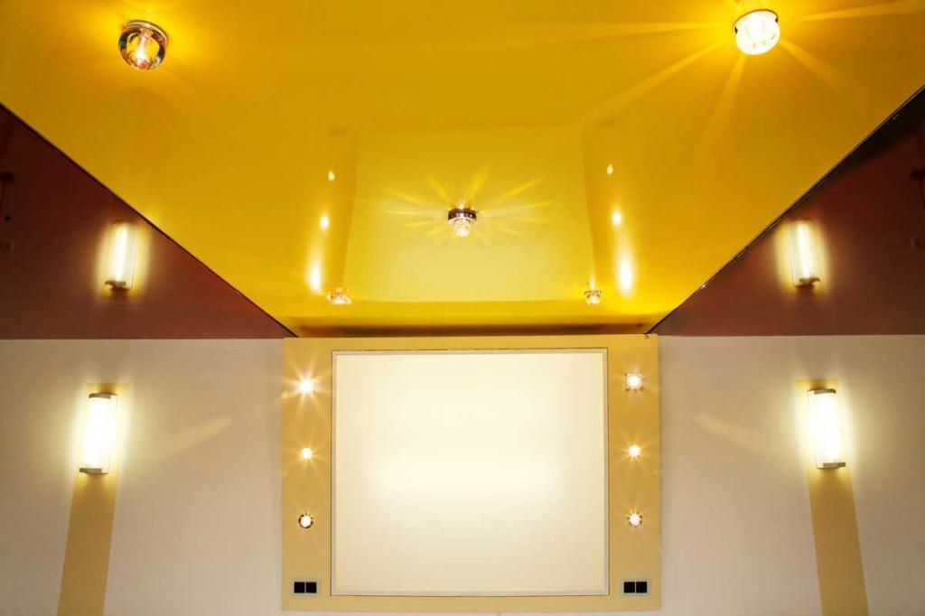 how to glue a stretch ceiling