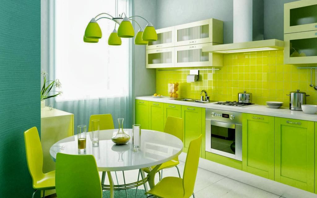 Зеленый цвет в интерьере кухни: интересные идеи, цветовые сочетания и примеры с фото