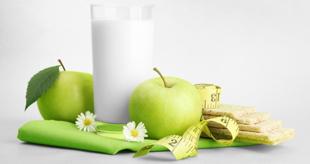 молоко и яблоки диета