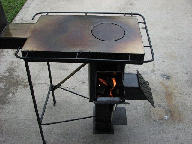 Rocket stove with stove