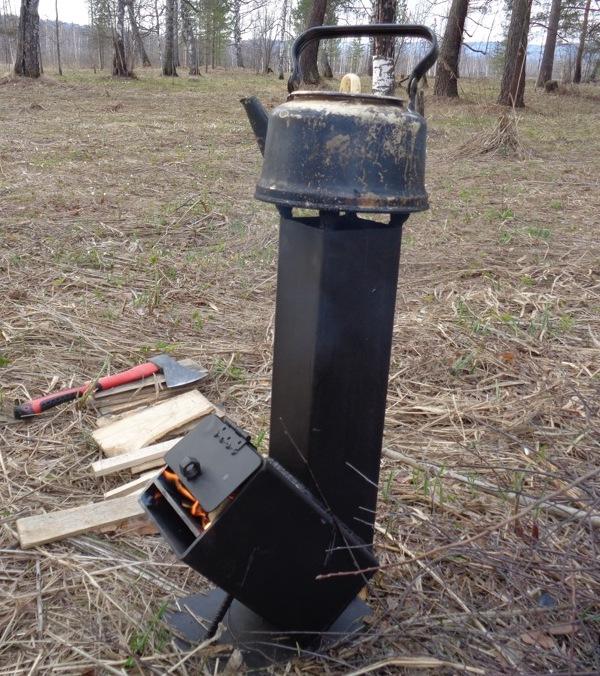 Camping rocket furnace