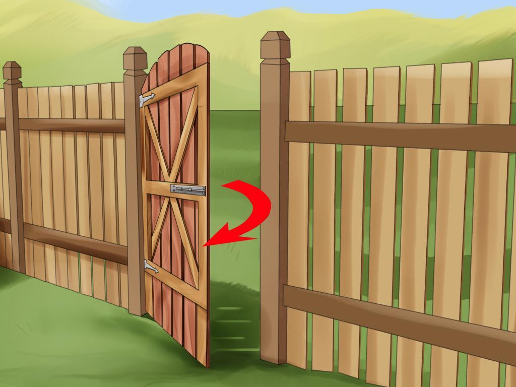 Открытые ворота своими руками 18