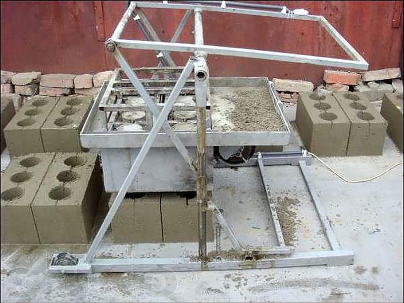 Как изготовить станок для изготовления шлакоблоков своими руками 93