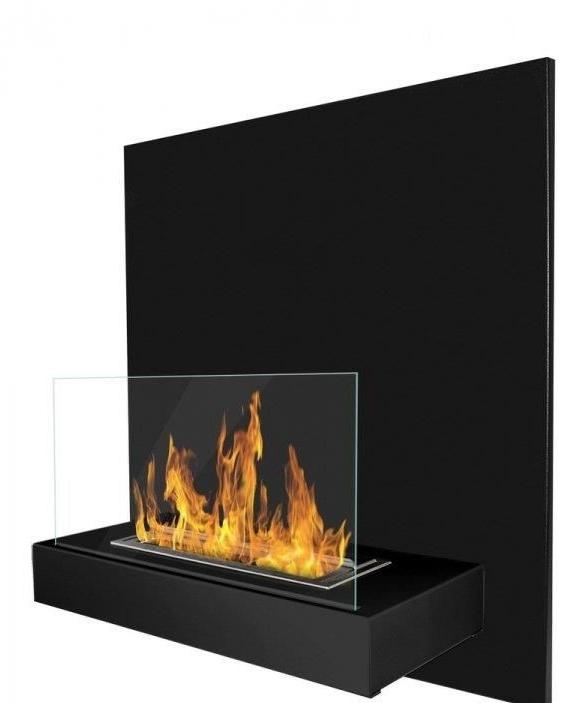 Wall bio fireplace