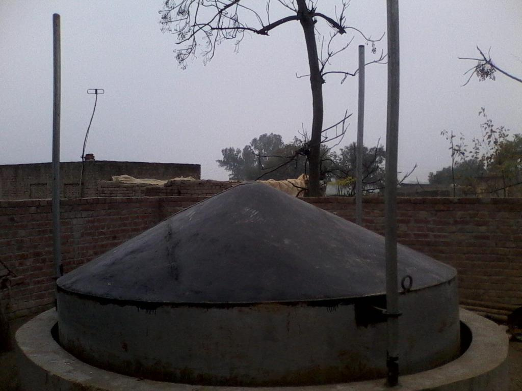 Homemade reactor in a pit with a lid