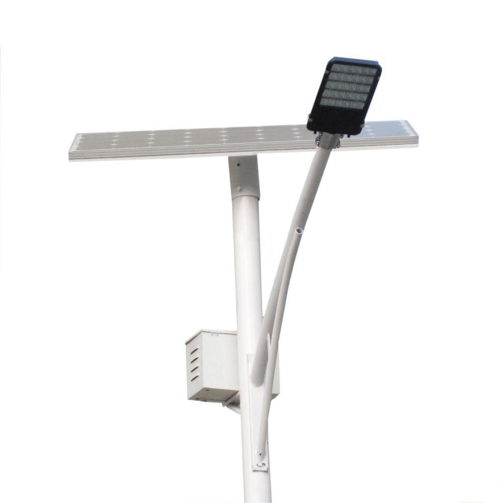 стальная опора с одним осветительным прибором