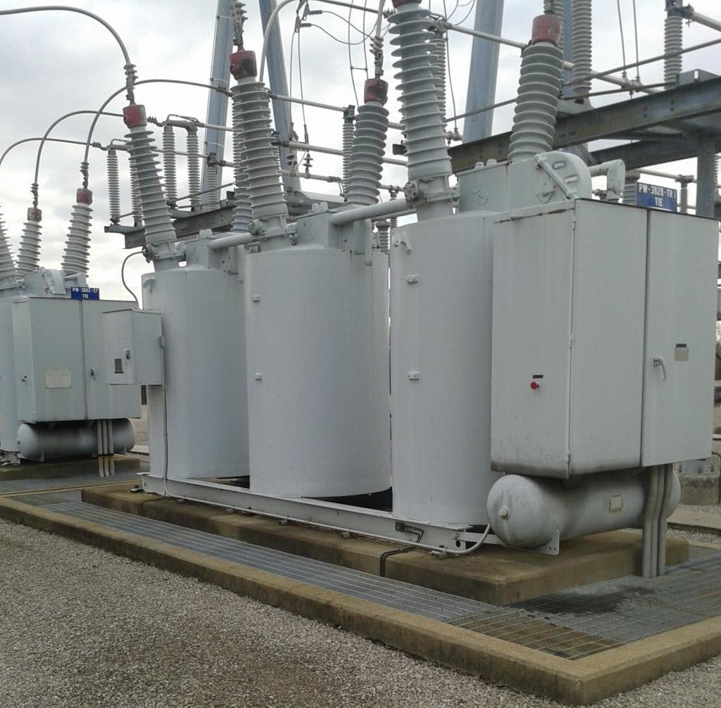 электрические агрегаты на фундаменте