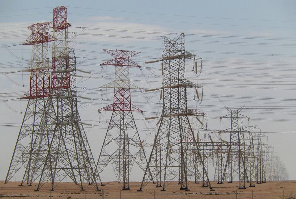 Передача электроэнергии за городом
