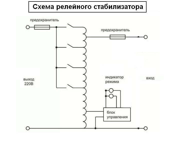 простая схема стабилизатора