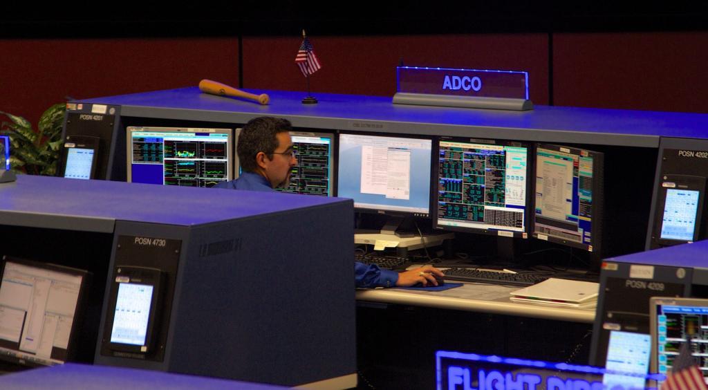диспетчерский пункт с цифровой техникой
