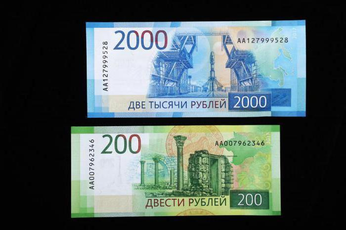 200 и 2000 рублей новые купюры