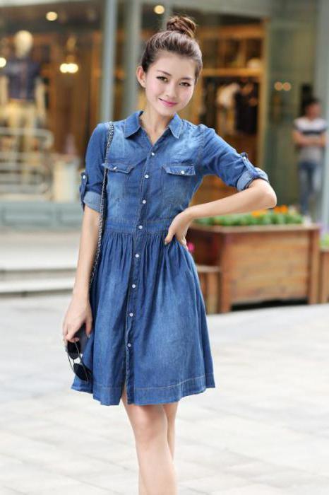 джинсовая юбка стиль