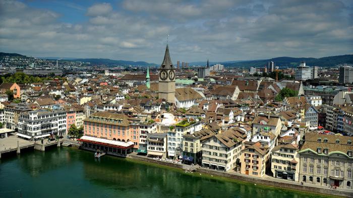 В Цюрихе расположено
