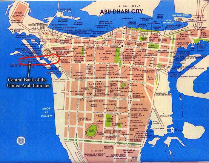 Абу-Даби где находится? Абу-Даби на карте