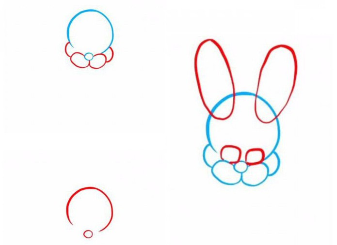 """How to draw Bonnie - lilac animatrice from the game """"Five nights with Freddy"""""""