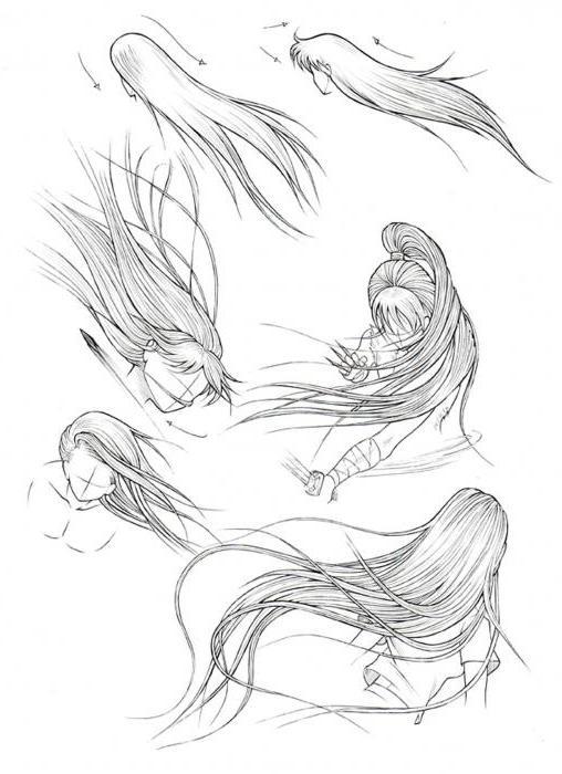 как нарисовать ветер карандашом