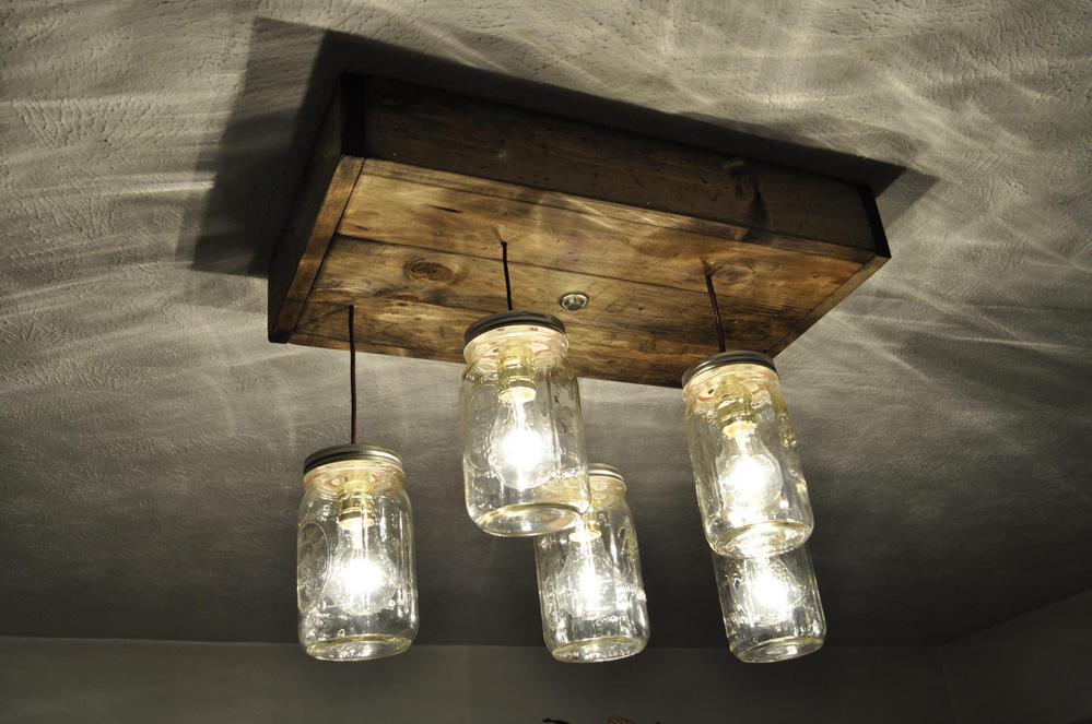 Деревянный светильник на кухню своими руками 87