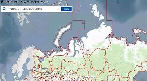 Схема расположения земли на кадастровом плане территориии