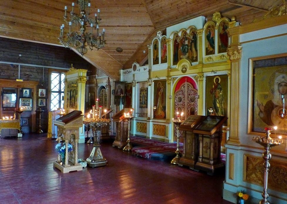 Divine services in the temple in Sokolniki