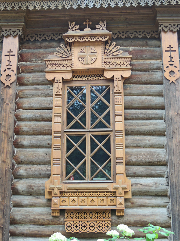 The carved windows of the temple