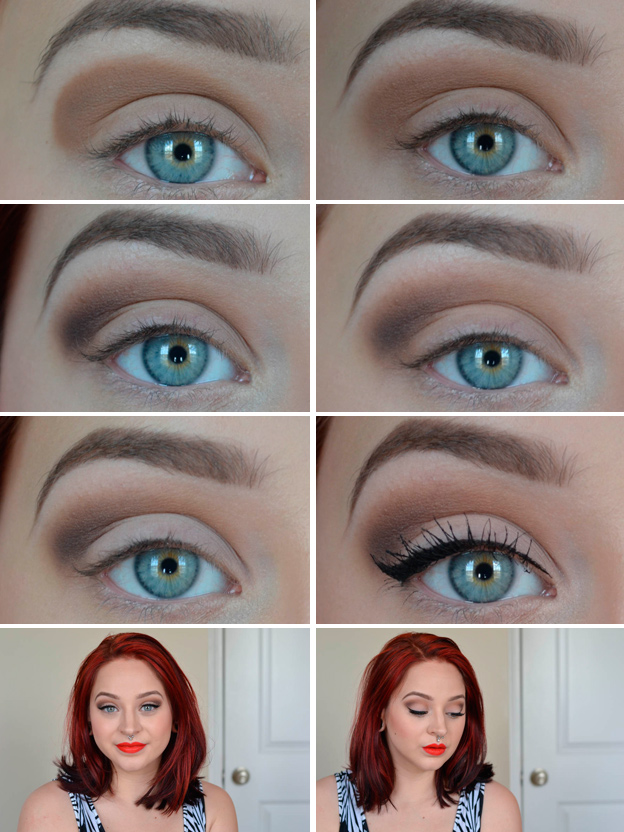 сделать макияж пошаговые фото