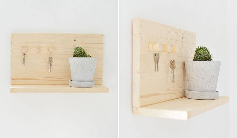 do-it-yourself wooden housekeeper