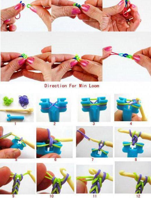 Как делать из резинок браслет