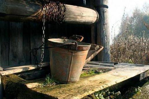 деревянный колодец