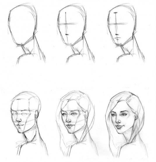Как рисовать свой портрет поэтапно
