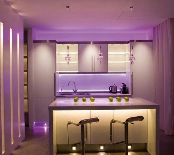 кухонная подсветка столешницы и рабочей зоны