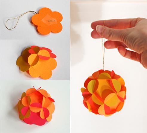как сделать самому шарик из бумаги