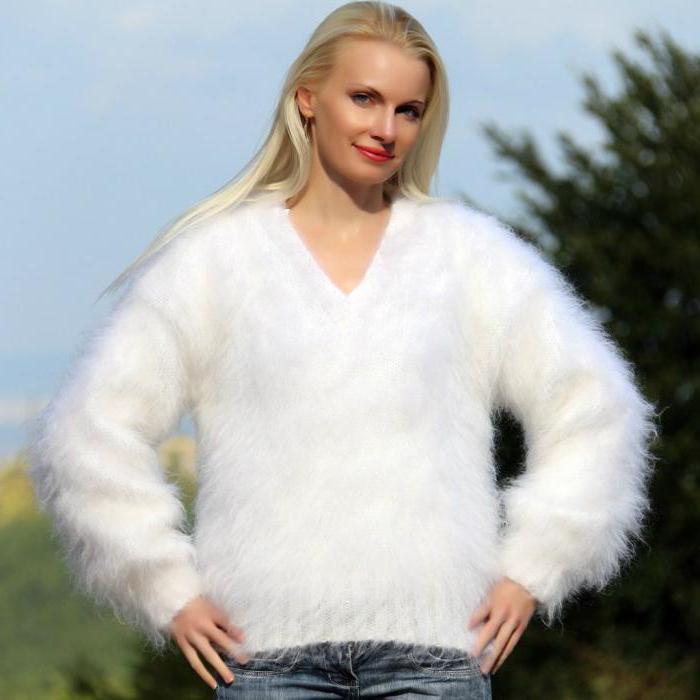 Свитер из ангоры: модели, с чем носить