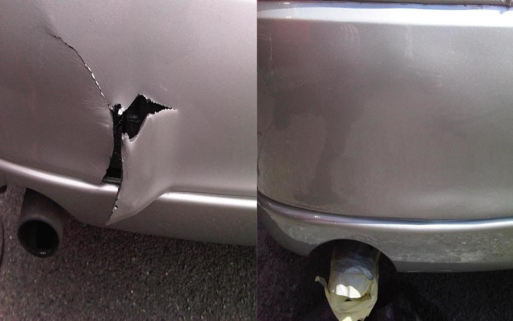 Result before and after repair