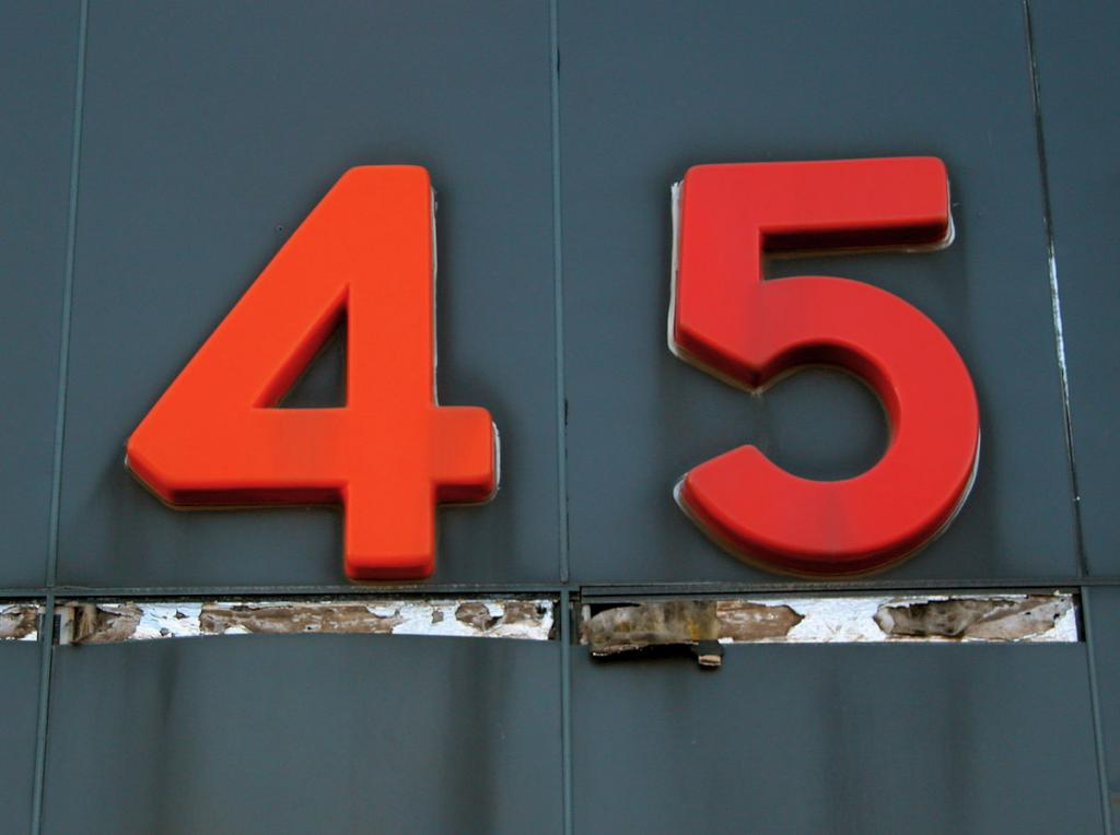 The number 45 that predicts
