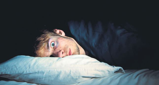 a man cannot fall asleep