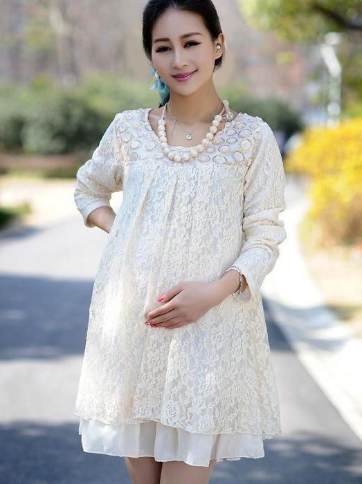 фасоны платьев для беременных на лето