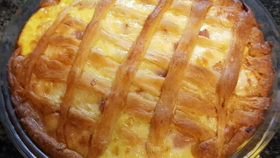 пирог с творогом из дрожжевого теста рецепт