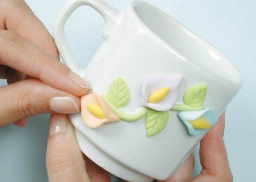 декор кружки полимерной глиной мк